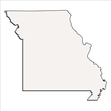 Vector Missouri State 3D Outline Map