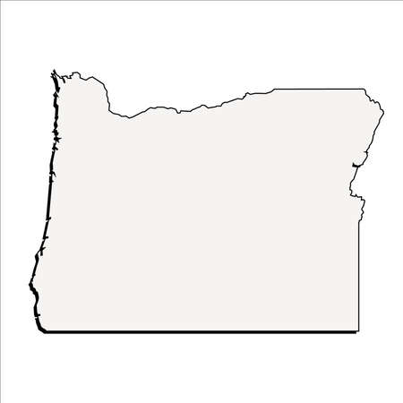 Vector Oregon State 3d Outline Map Royalty Free Cliparts Vectors And Stock Ilration Image 58603135