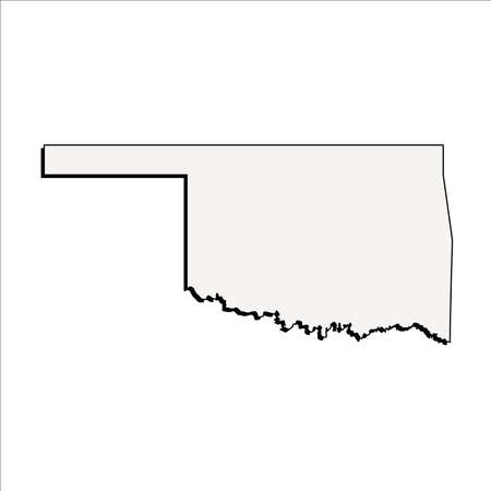 Vector Oklahoma State 3D Outline Map