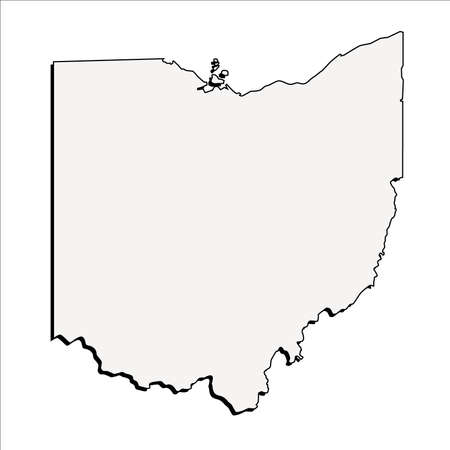 Vector Ohio State 3D Outline Map
