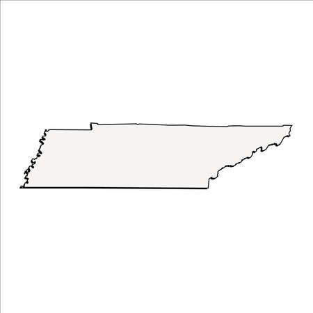 Vector Tennessee State 3D Outline Map