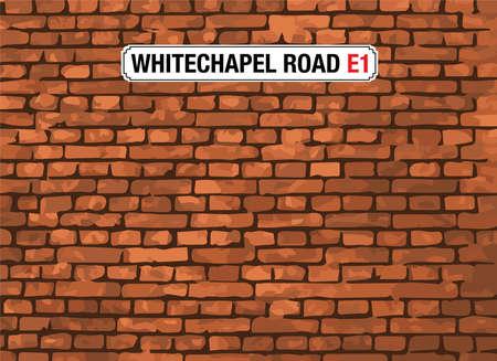 london street: WHITECHAPEL ROAD, London, Street Sign