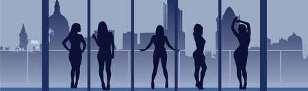 mujer golpeada: Concepto de la Mujer que mira al futuro