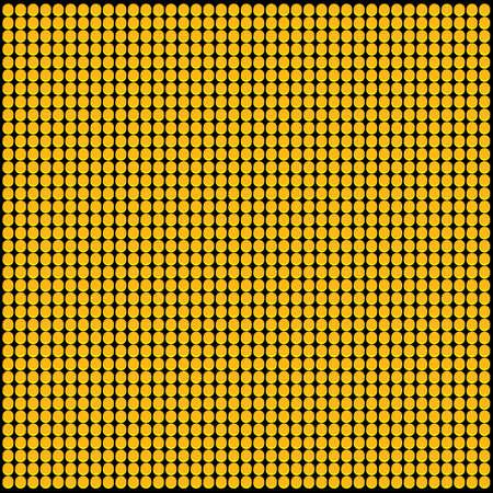 led: Yellow LED Panel Vector Pattern Illustration