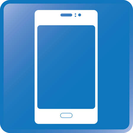 key pad: Vector Smartphone Icon-White on Blue