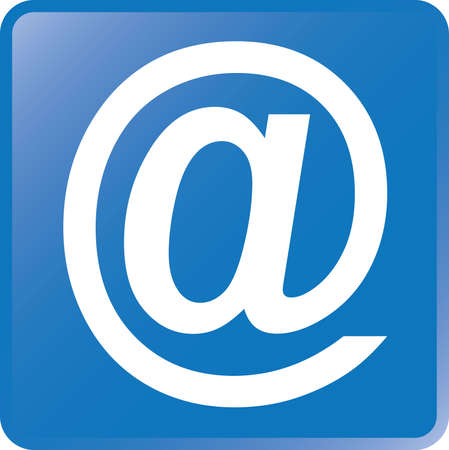 key pad: Vector Email Concept Icon-White on Blue
