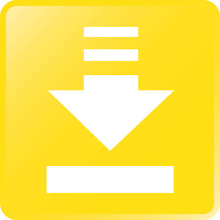 vector download: Vector Download Concept Icon-White on Yellow