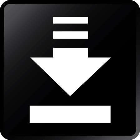 vector download: Vector Download Concept Icon-White on Black