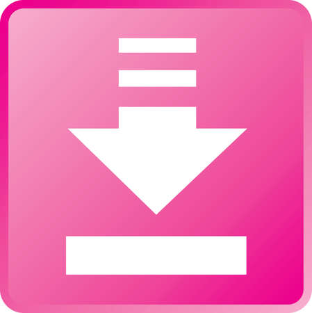vector download: Vector Download Concept Icon White on Magenta