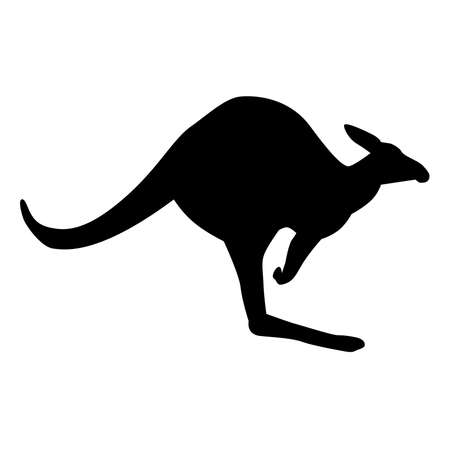 danger ahead: Vector Kangaroo Sillhouette Illustration