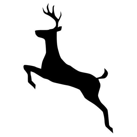 danger ahead: Vector Deer Icon Silhouette Illustration