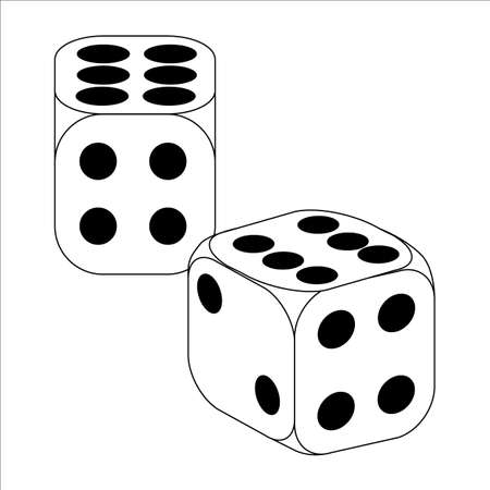 wagers: Black and White Dice With Six Roll