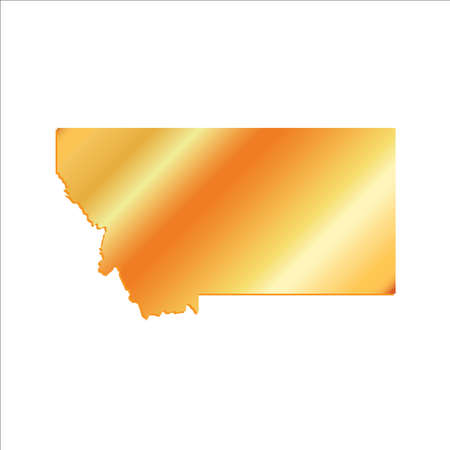 mercator: 3D Montana (USA) Gold map with shadow