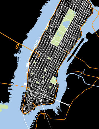 Lower Manhattan Stock Vector Illustration And Royalty Free - Lower manhattan us map