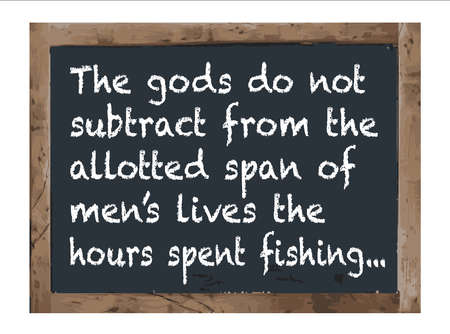 twain: God fishermens slogan,Vector Antique chalk board