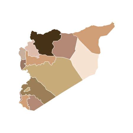Syria State Boundaries Map Flesh Tones