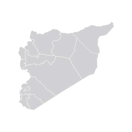 boundaries: Vector Syria State Boundaries Map Pale Grey