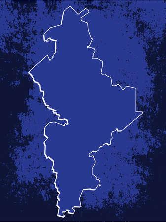 leon: 3D Nuevo Leon, Mexico State Map Blueprint Grunge Vector