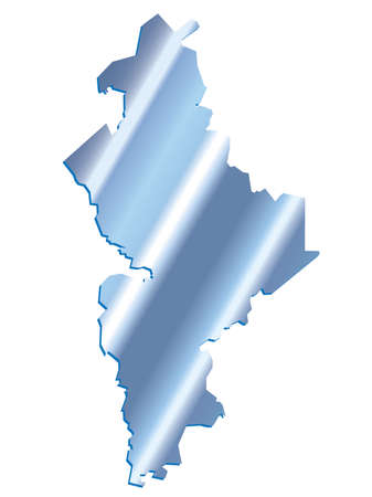 leon: 3D Nuevo Leon, Mexico State Map Iridium Vector