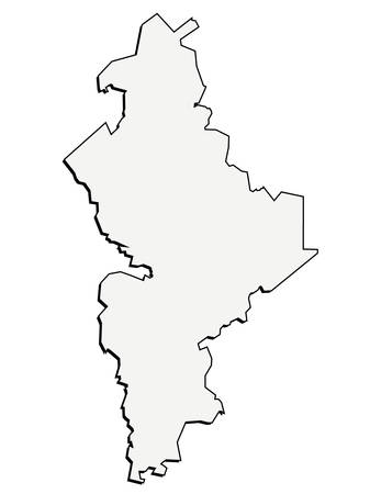 leon: 3D Nuevo Leon, Mexico State Map Outline Vector
