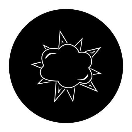 improvised: Terrorist IED Explosion Black Icon