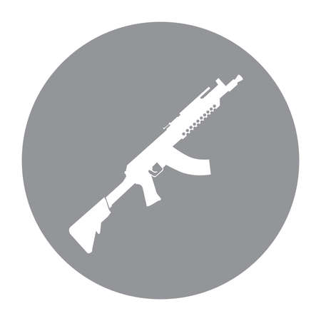 Terrorist Icon Small Arms Grey Icon