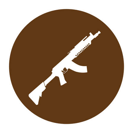 Terrorist Icon Small Arms Brown Icon