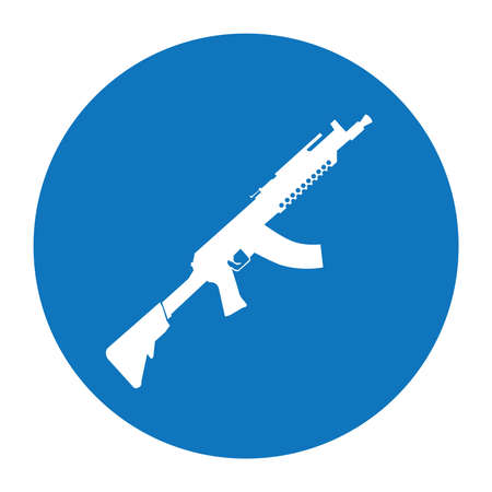 Terrorist Icon Small Arms Blue Icon
