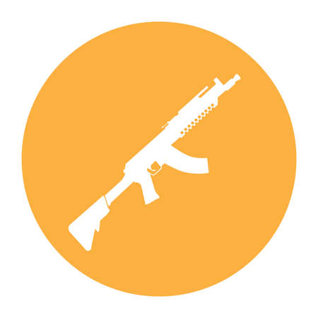 Terrorist Icon Small Arms Orange Icon