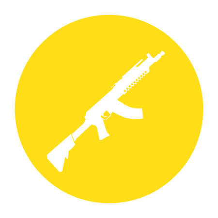 Terrorist Icon Small Arms Yellow Icon