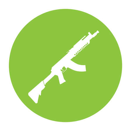 Terrorist Icon Small Arms Acid Green Icon