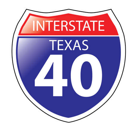 barstow: Layered artwork of Texas I-40 Interstate Sign