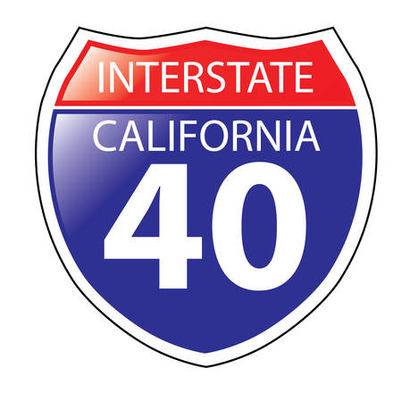 barstow: Layered artwork of California I-40 Interstate Sign