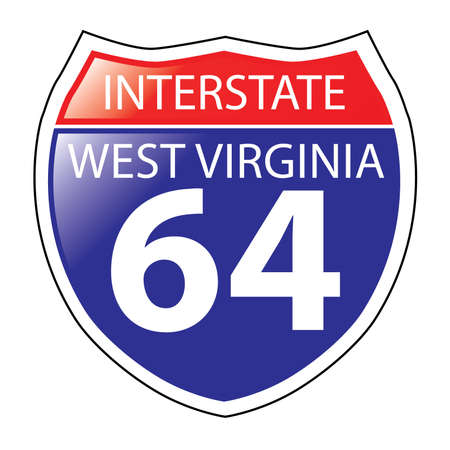 Layered artwork of West Virginia I-64 Interstate Sign