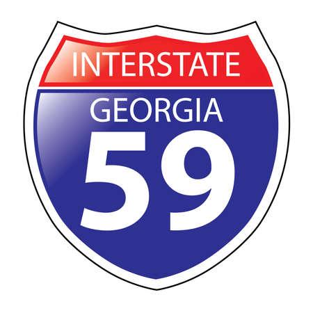 Layered artwork of Georgia I-59 Interstate Sign