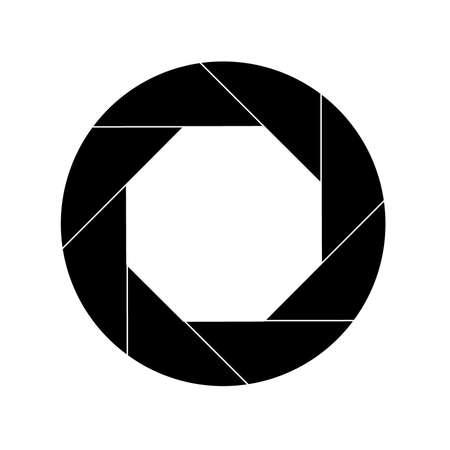 Icône d'obturateur noir isolé sur blanc Vecteurs