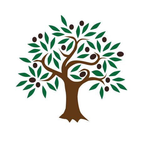 Illustrazione astratta Black Olive albero vettore Vettoriali