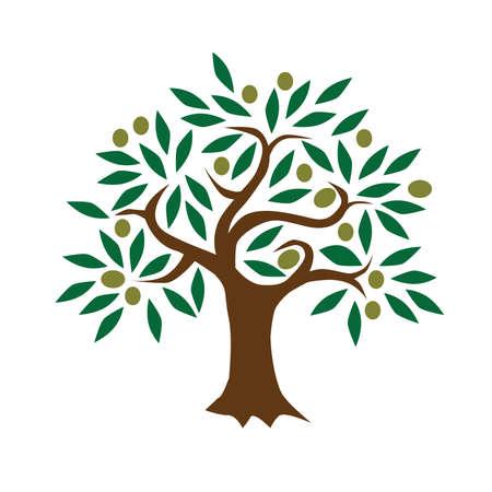 Streszczenie Zielony Drzewo Drzewo Ilustracji Wektorowych