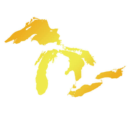 great lakes: Map of Great Lakes Gold Version