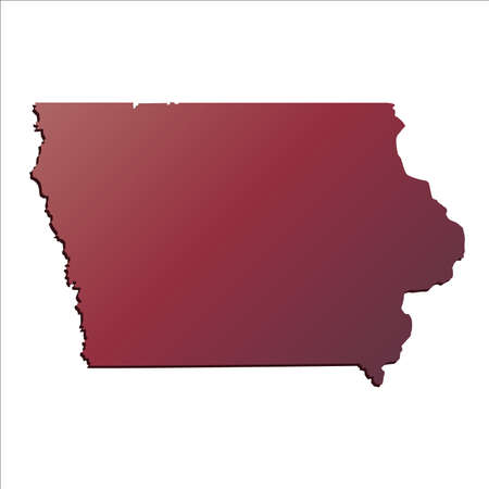 autumn gradient iowa usa state map with shadow stock vector 71675880