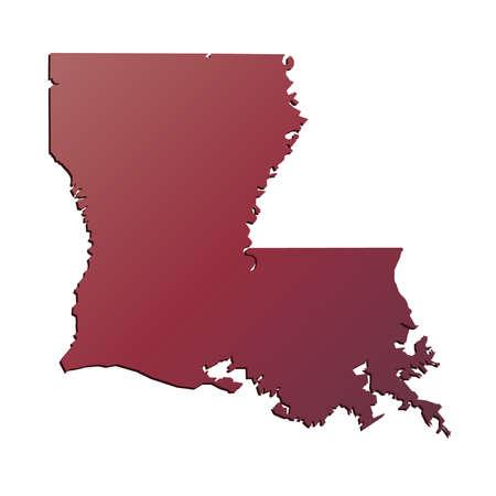 baton rouge: Autumn Gradient Louisiana (USA) State map with shadow