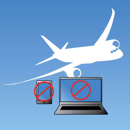 Vector Inbound Flights Laptop and Smartphone ban