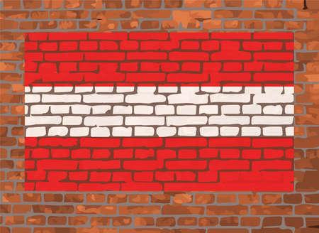 masonry: Flag of Austria on a brick background