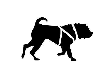 Vector - Sharpei Pedigree Dog Silhouette with harness
