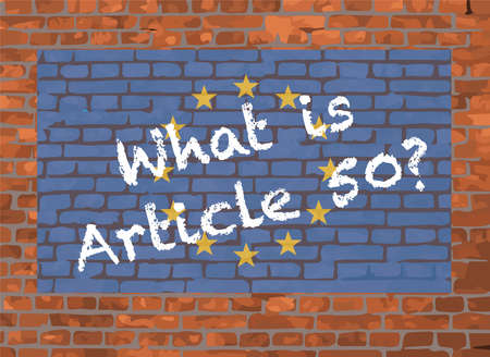 European Union Flagand Graffiti On A Brick Background