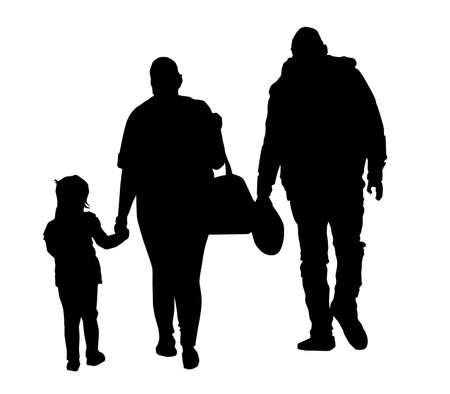 Vector - Family Silhouette. Ilustração