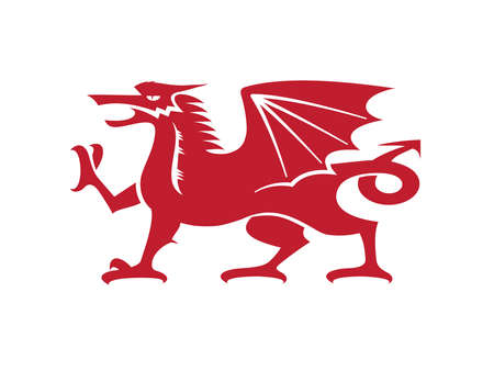 Vector - The Welsh Dragon isolated with a white background