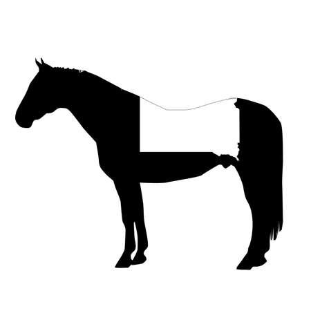 Vector Horse Silhouette with South Dakota Patch Illustration