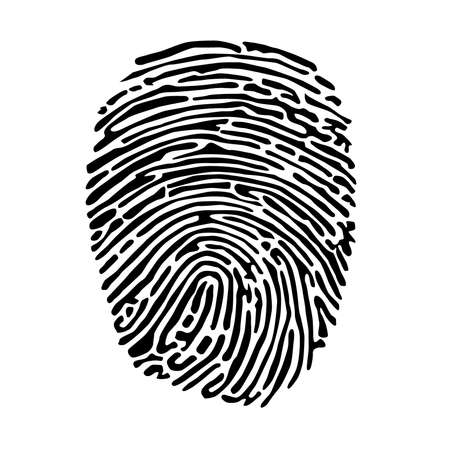 Vector - Vector black isolated fingerprint on white background