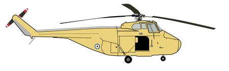 Coastguard Helicopter Sketch Illustration